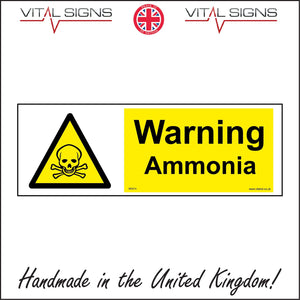WS014 Warning Ammonia Sign with Triangle Skull & Crossbones