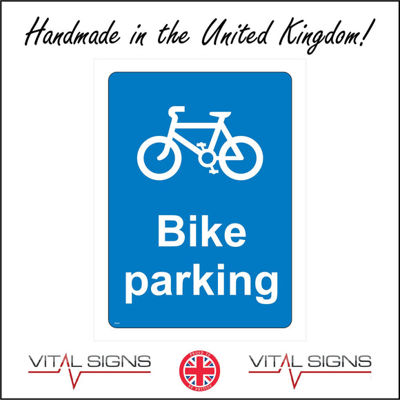 GE353 Bike Parking Sign with Bike