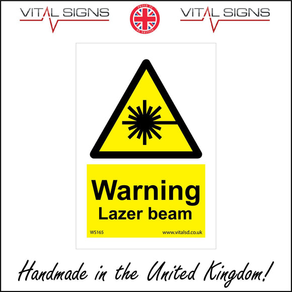 WS165 Warning Lazer Beam Sign with Triangle Laser Beam
