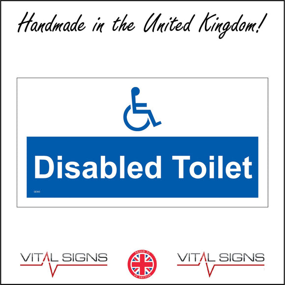 GE363 Disabled Toilet Sign