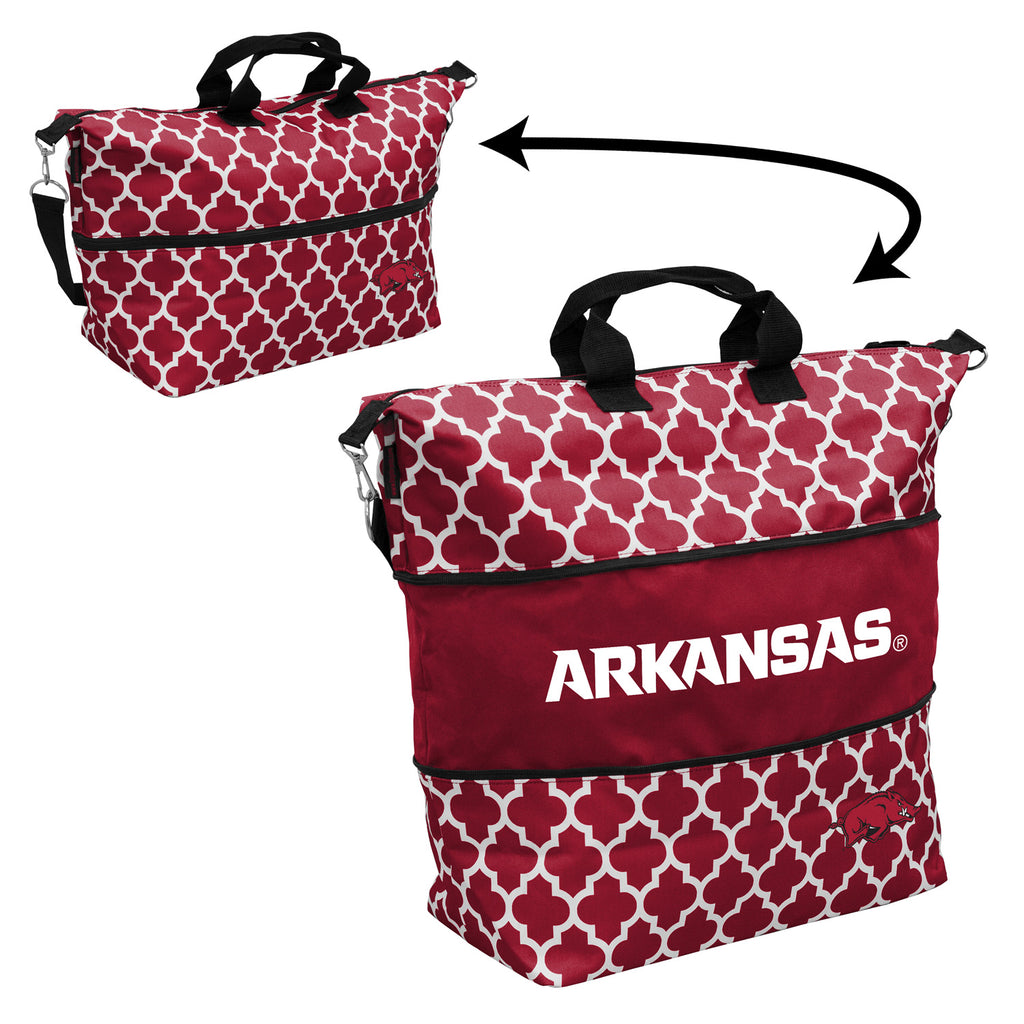 Arkansas-Quatrefoil-Expandable-Tote