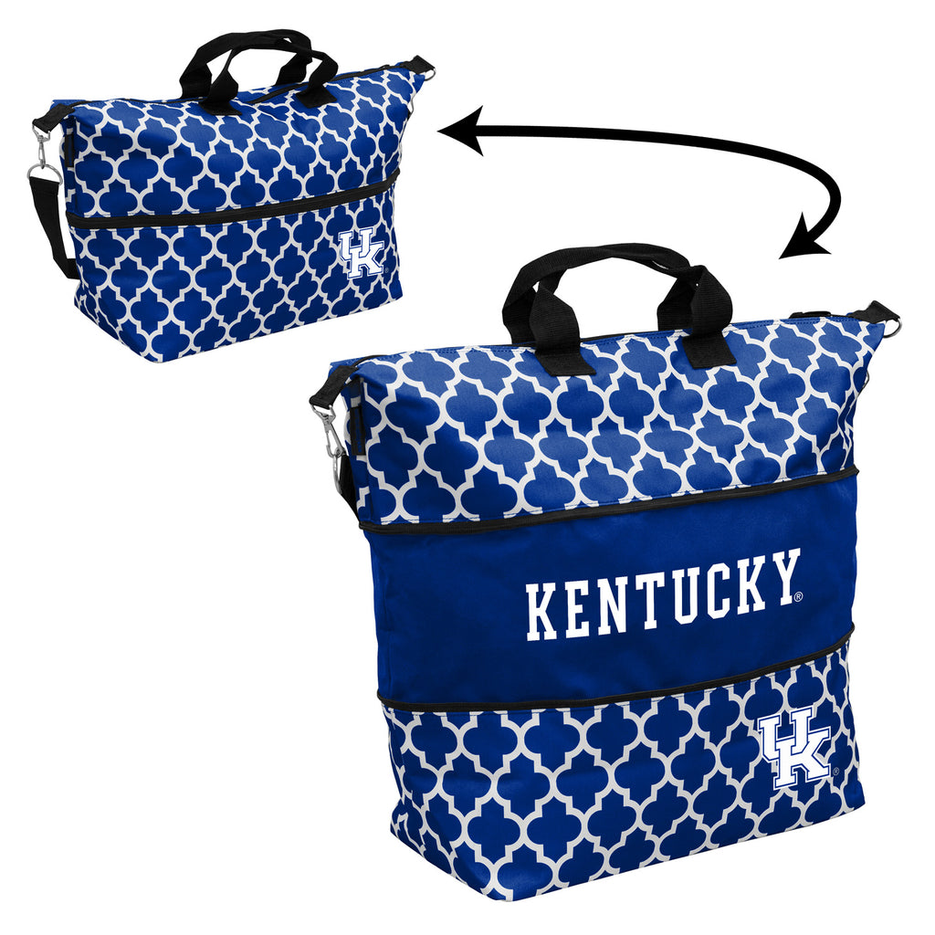 Kentucky-Quatrefoil-Expandable-Tote
