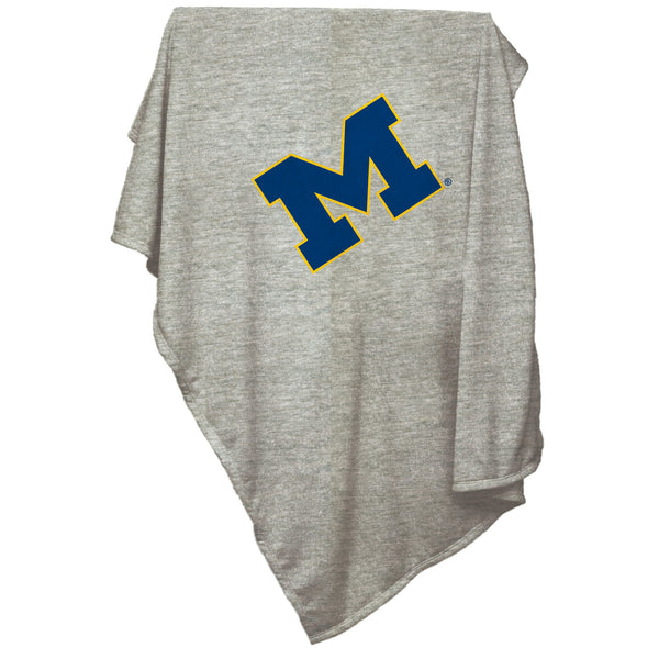 Michigan-Gray-Sweatshirt-Blanket