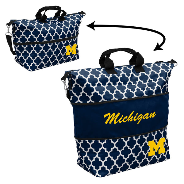 Michigan-Quatrefoil-Expandable-Tote