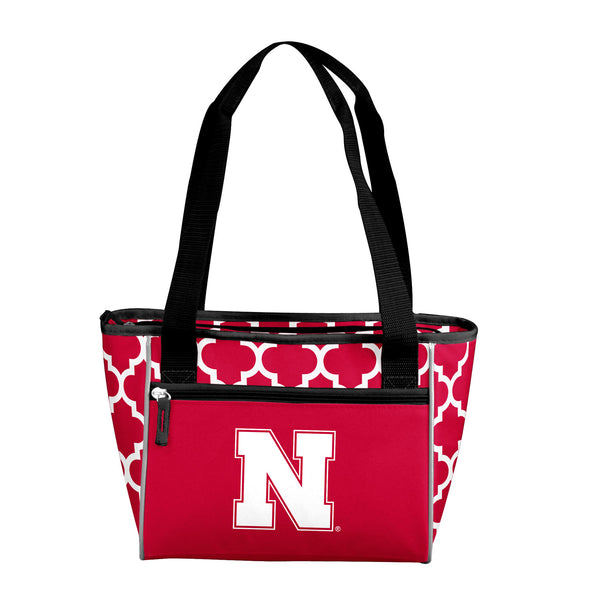 Nebraska-Quatrefoil-16-Can-Cooler-Tote