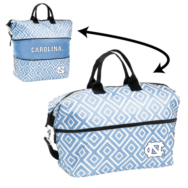 North-Carolina-Quatrefoil-Expandable-Tote