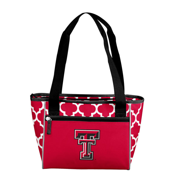 TX Tech Quatrefoil 16 Can Cooler Tote
