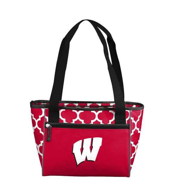 Wisconsin Quatrefoil 16 Can Cooler Tote