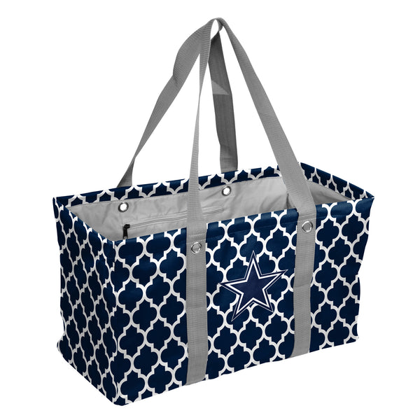 Dallas-Cowboys-Quatrefoil-Picnic-Caddy