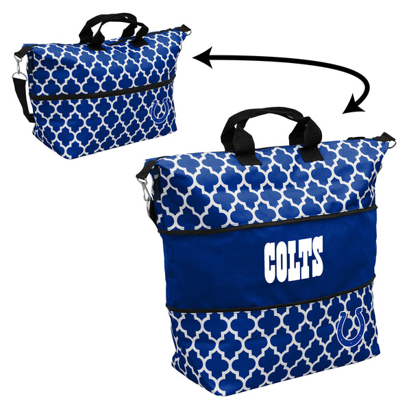 Indianapolis-Colts-Quatrefoil-Expandable-Tote