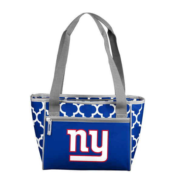 New York Giants Quatrefoil 16 Can Cooler Tote