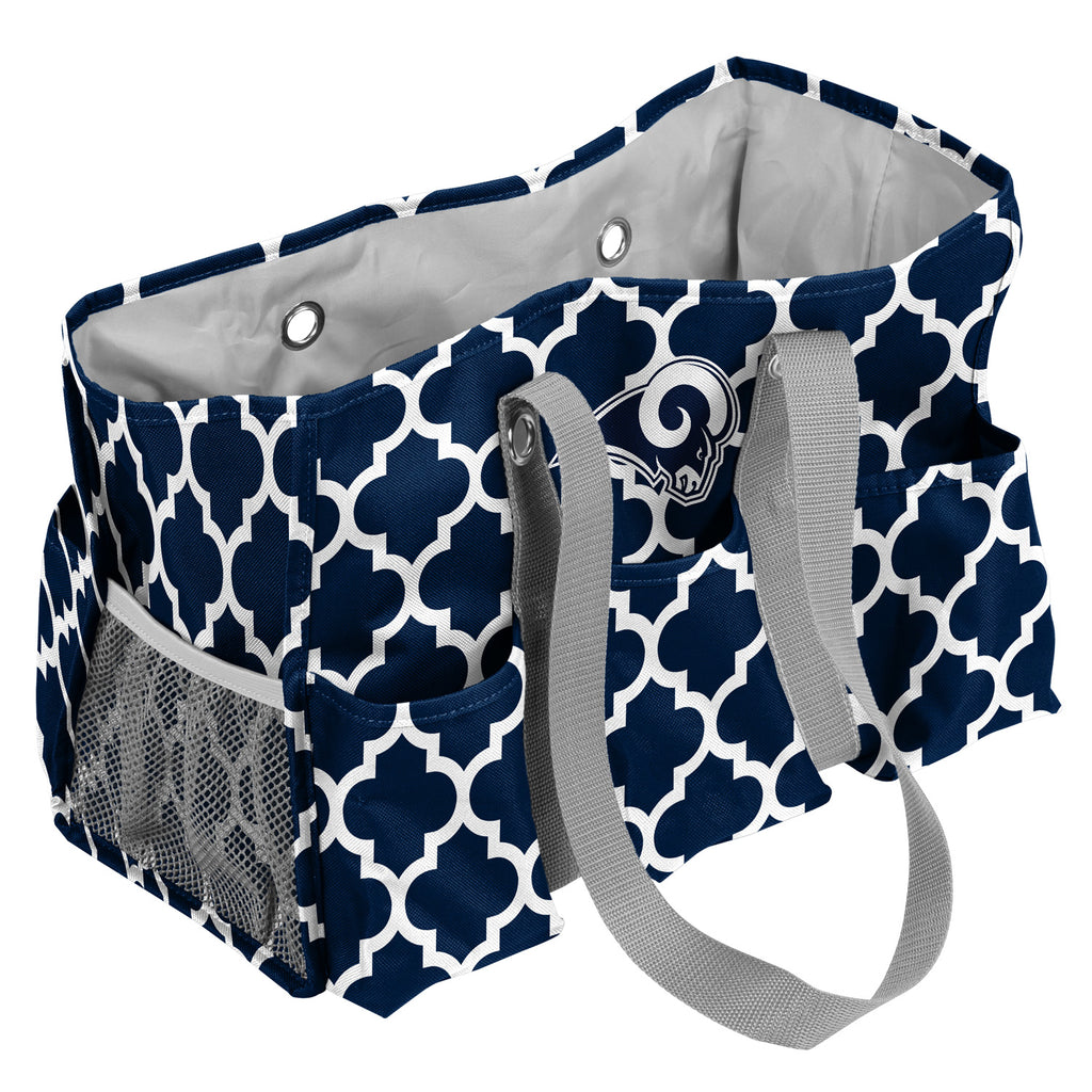 LA Rams Navy/White Quatrefoil Jr Caddy