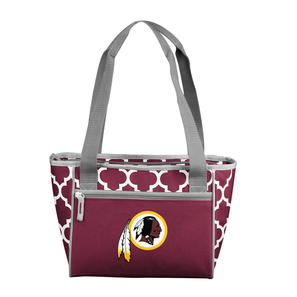 Washington Redskins Quatrefoil 16 Can Cooler Tote