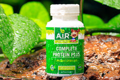 Complete Protein Plus Organic Spirulina Super Food from Air Thai Life. Photo of the product bottle.