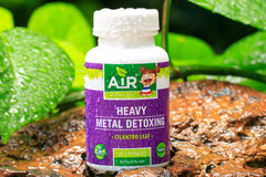 Air Thai Life Heavy Metal Detox Cilantro Leaf. Photo of the Heavy Metal Detox Cilantro Leaf. product bottle.