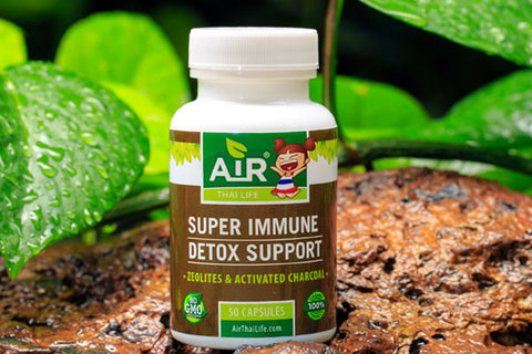 Air Thai Life Super Immune Detox Support. Photo of the Super Immune Detox Support product photo