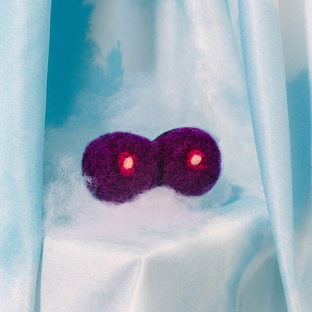 Boobs Felt Pin - Purple