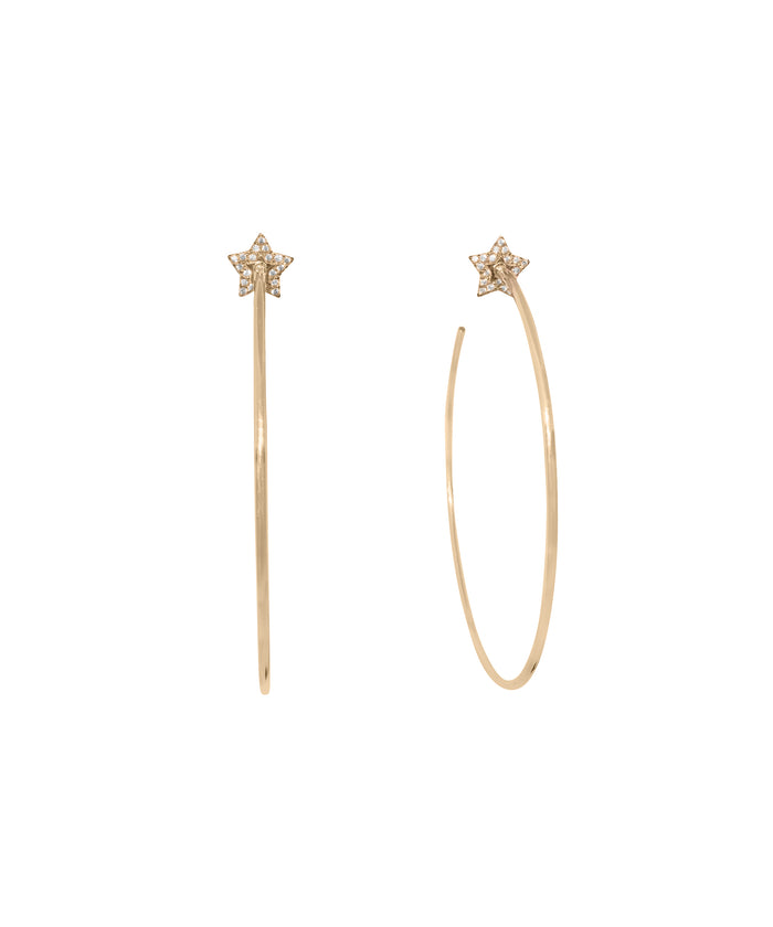 STAR HOOP EARRINGS GOLD