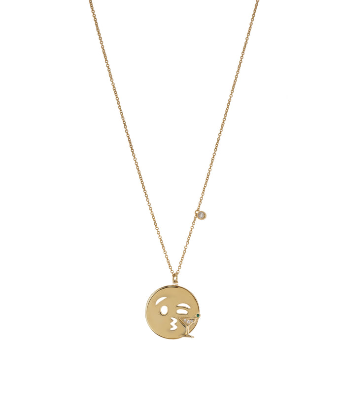 Emoji Necklace - Martini - GOLD - Fala Jewelry