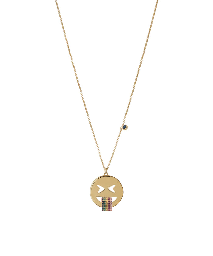 Emoji Necklace - Rainbow - GOLD