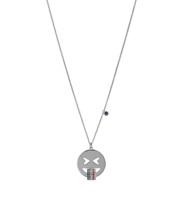 Emoji Necklace - Rainbow - SILVER