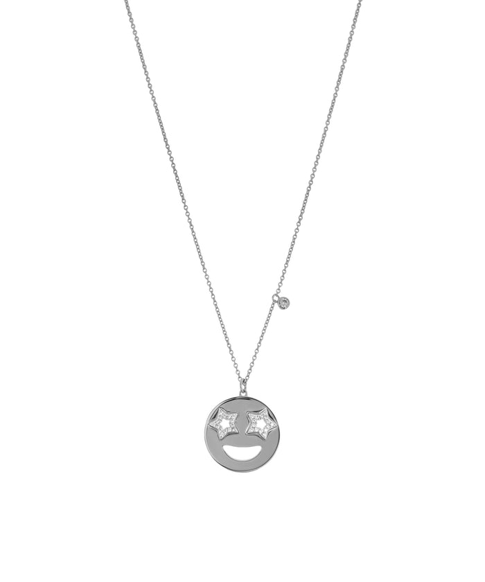 EMOJI NECKLACE - STAR - SILVER