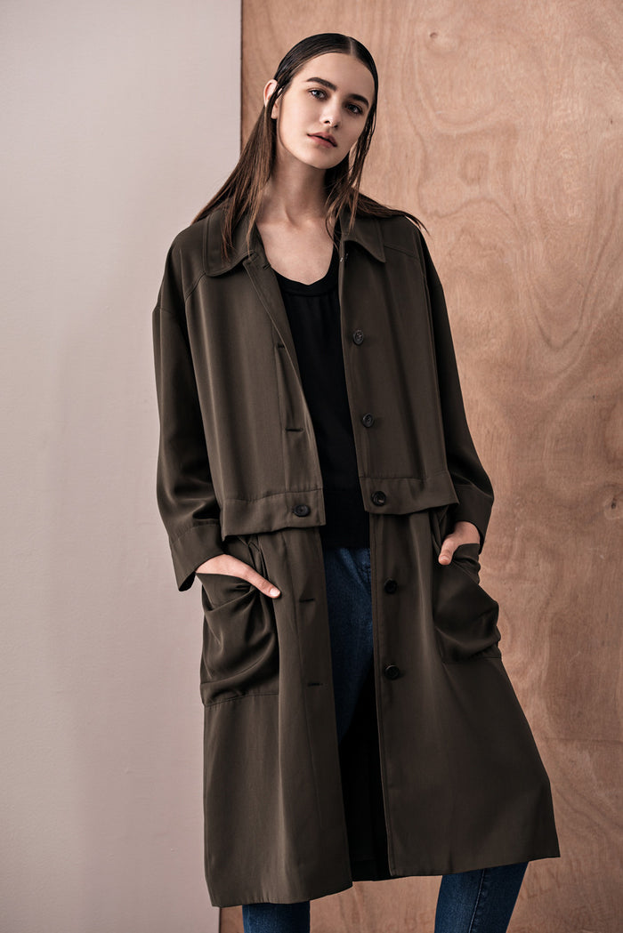 Z Iza Detachable Trench Coat - Fala Jewelry
