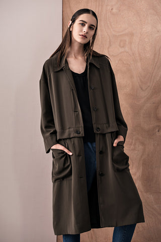 Iza Detachable Trench Coat