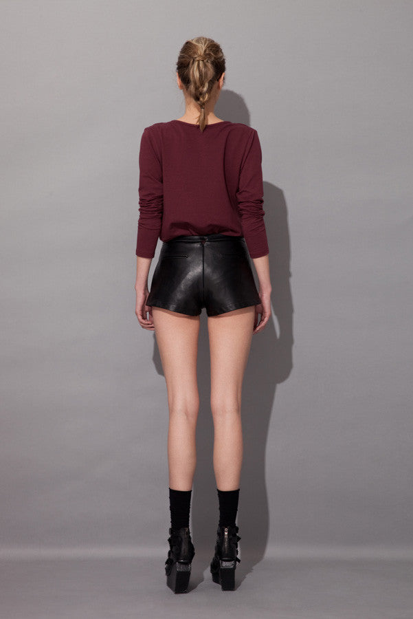 Z Chrystha Leather Shorts - Fala Jewelry