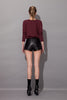 Chrystha Leather Shorts