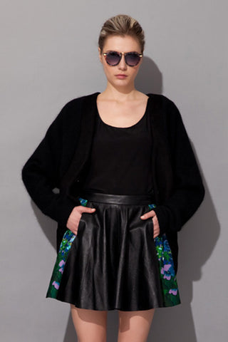 Lan Leather Skirt