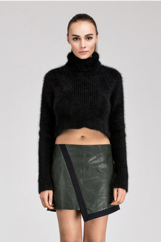 Natalie Leather Skirt