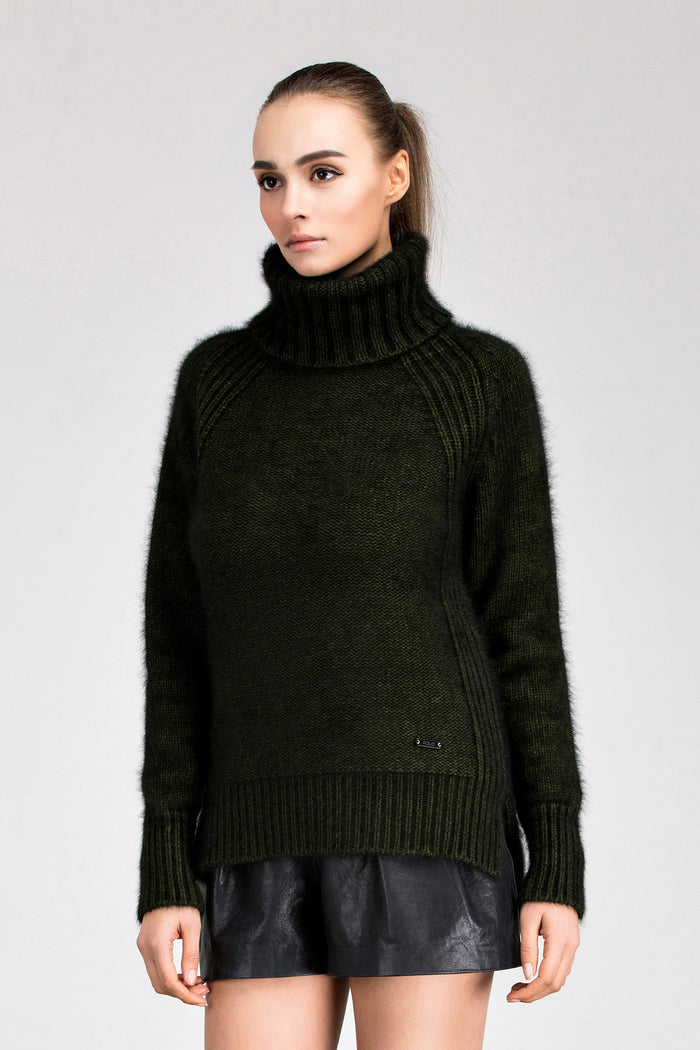 Z Ava Turtle Neck Mink Sweater - Fala Jewelry