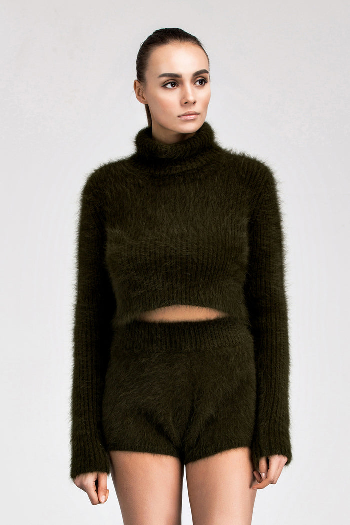 Z Elfina Mink Crop Sweater - Fala Jewelry