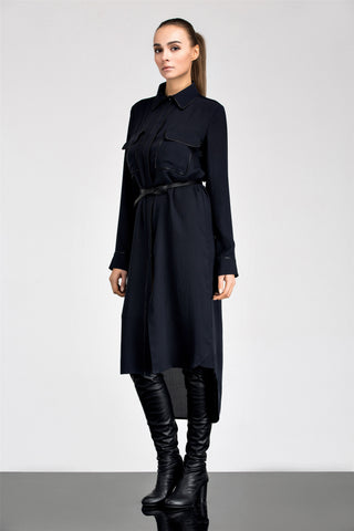Aline Silk Shirt Dress