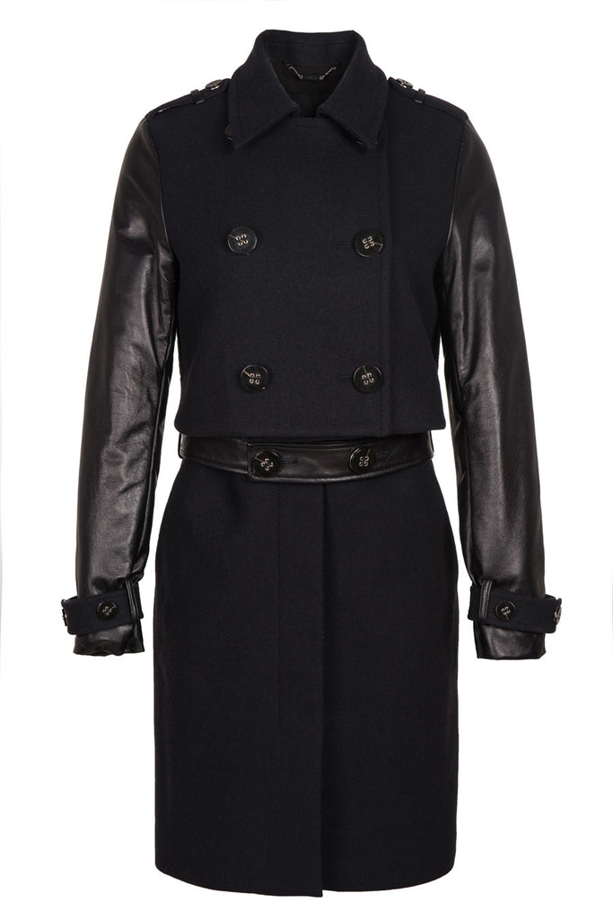 Z Anna Leather Two-Piece Detachable Trench Coat/Dress - Fala Jewelry