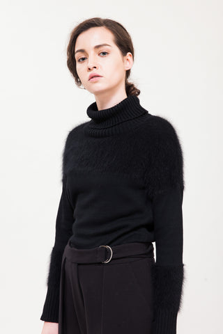 Lorraine Turtle Neck Mink Sweater