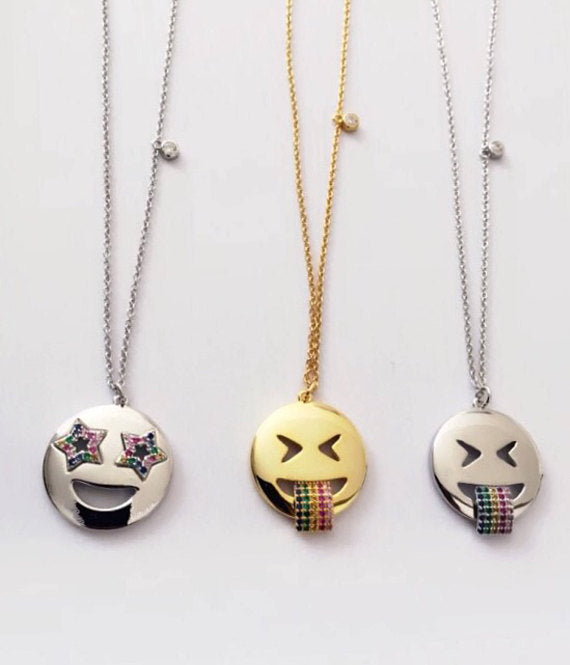 EMOJI NECKLACE - STAR - Rainbow - Fala Jewelry