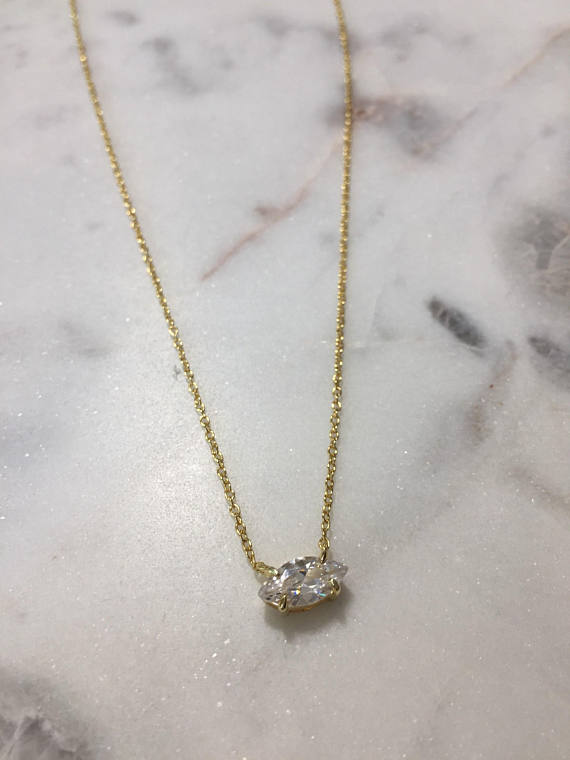 MARQUEE CHAIN NECKLACE - GOLD - Fala Jewelry