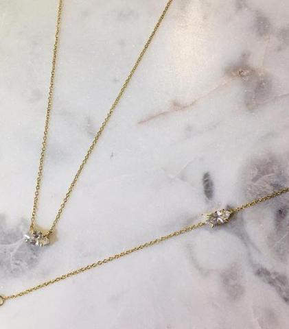 MARQUEE CHAIN NECKLACE - GOLD