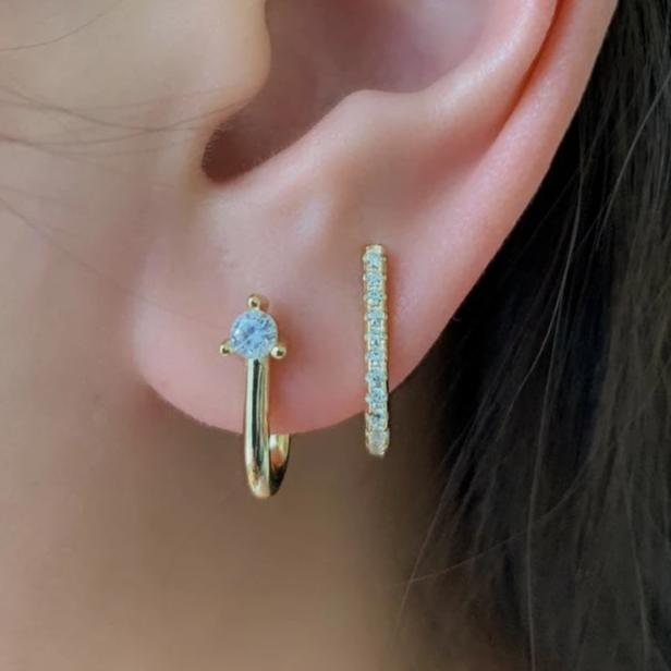 SUSPENDER EARRINGS - GOLD