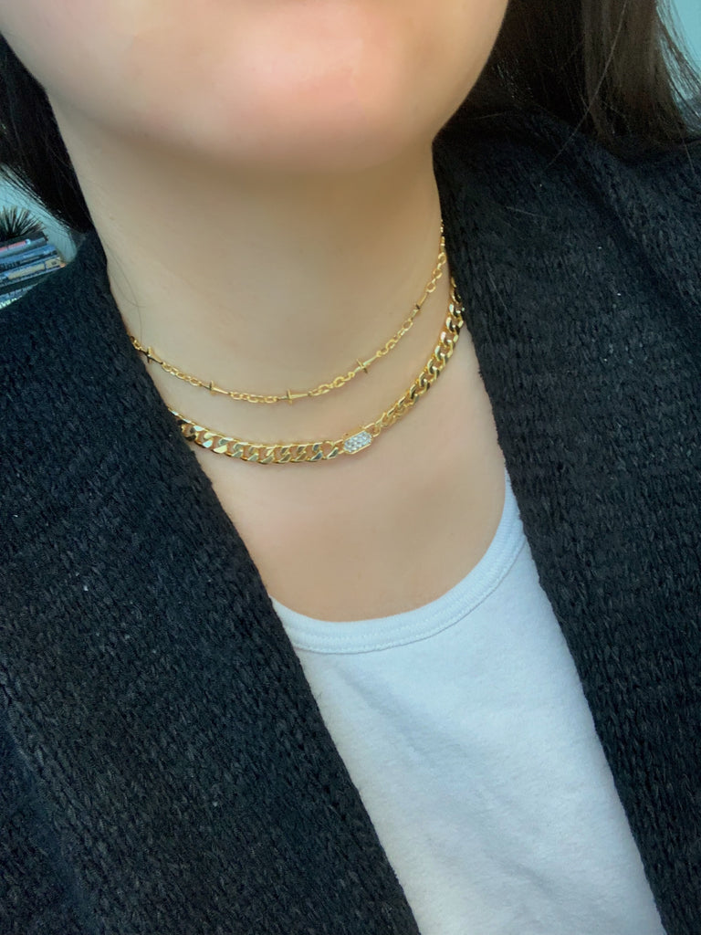 Bold Thick Curb Chain Necklace
