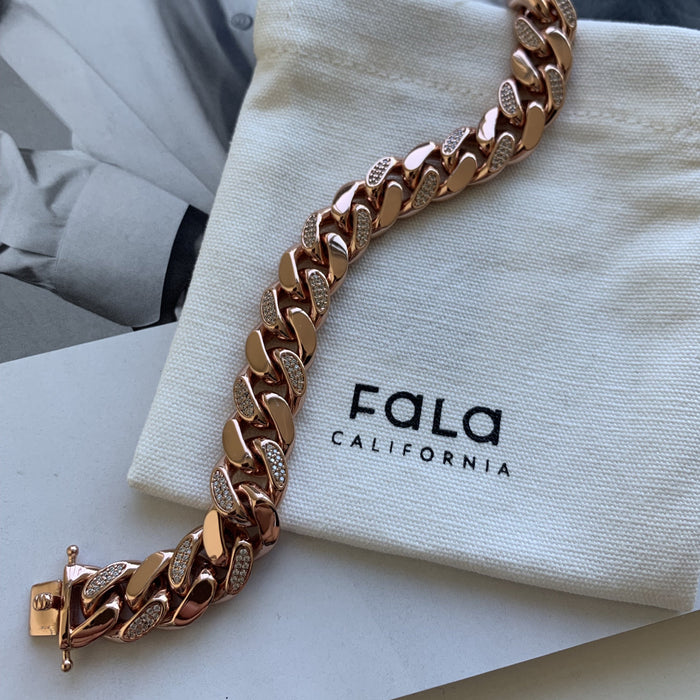 Cuban Link Bracelet - Rose Gold