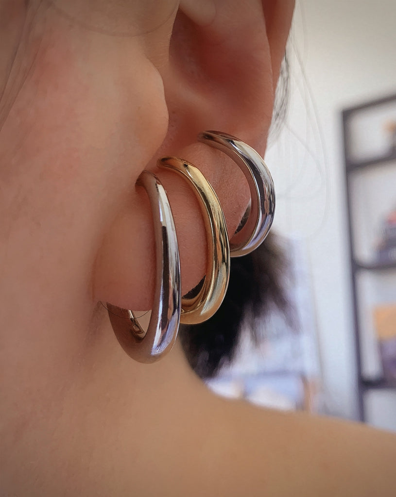 CHUNKY SUSPENDER EARRINGS