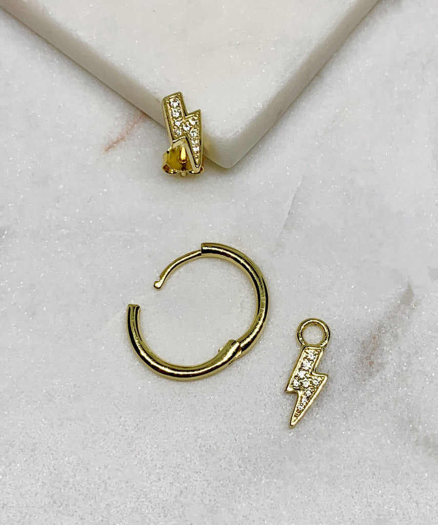 FLASH HOOP EARRINGS - GOLD