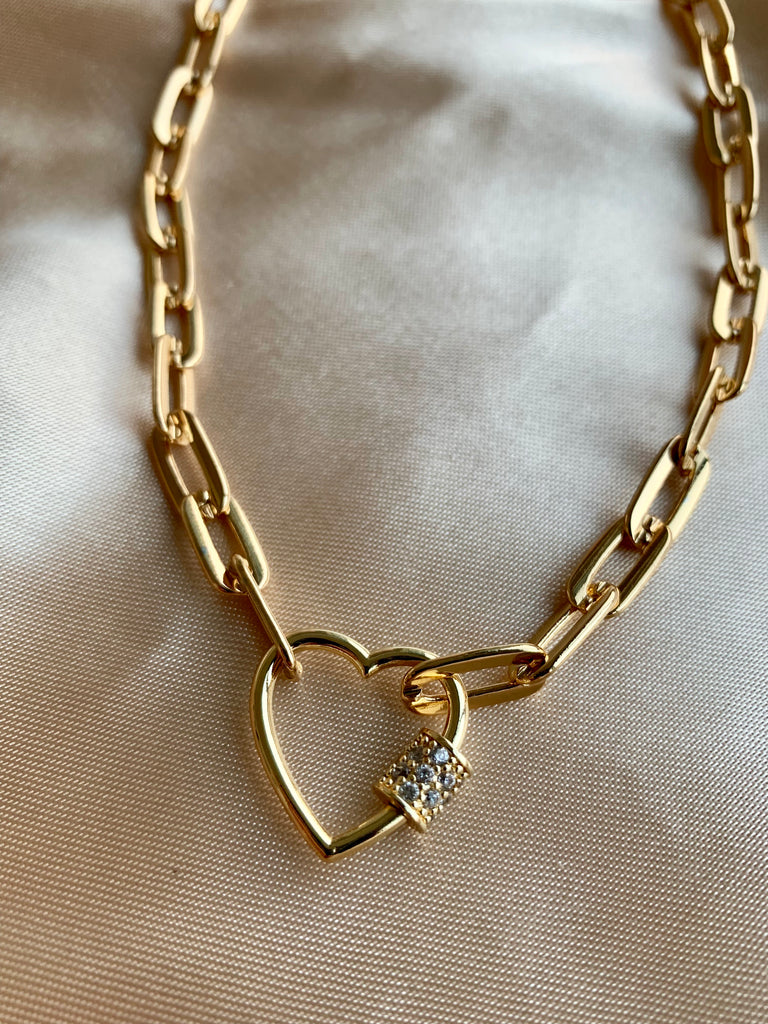 Heart Chain Link Necklace