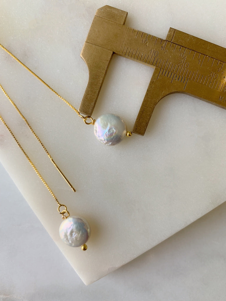 PEARL THREAD EARRINGS - 12
