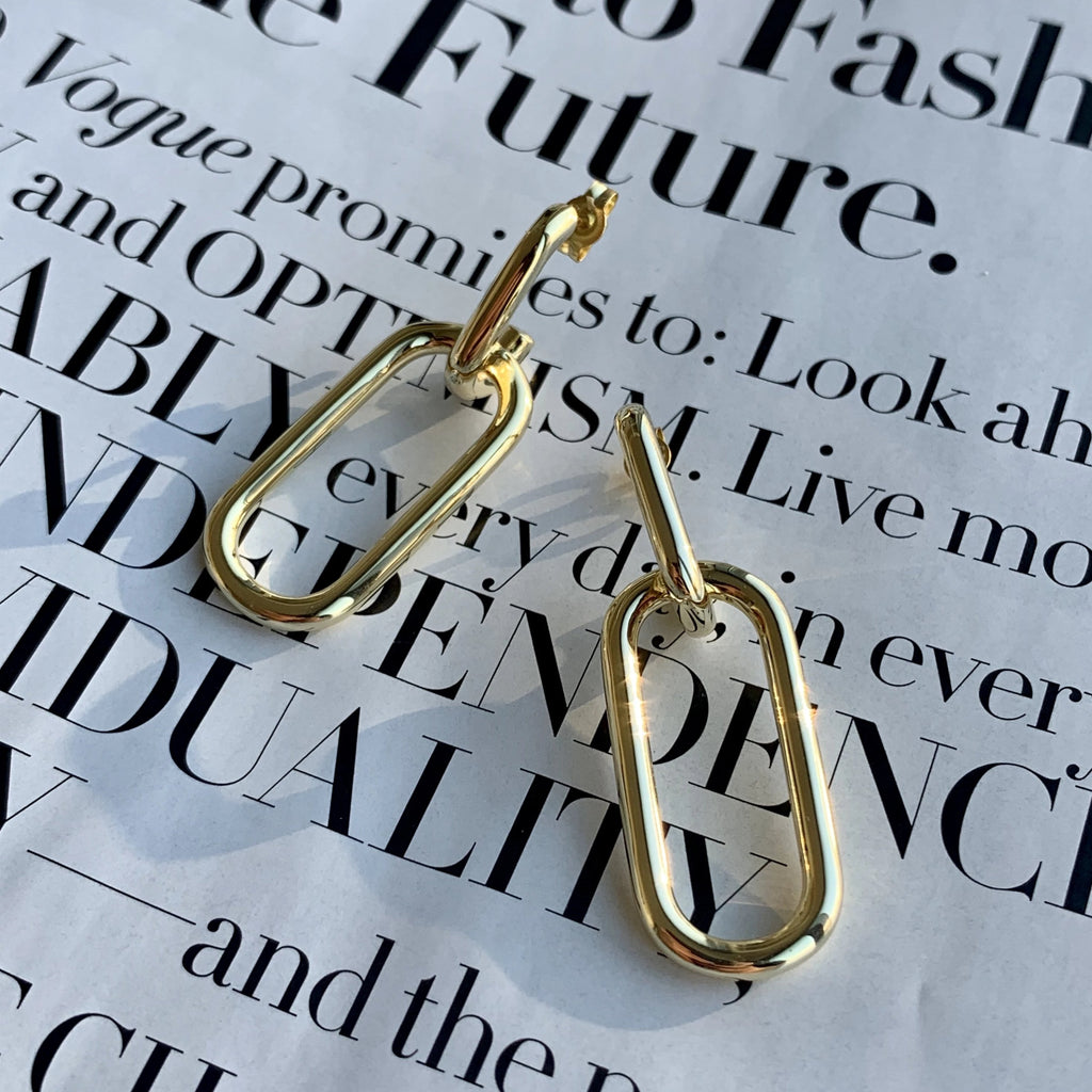 CHUNKY SQUARE HOOP EARRINGS