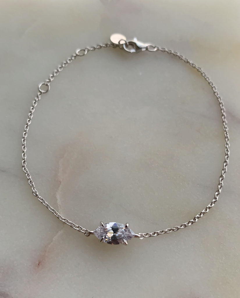 MARQUEE CHAIN BRACELET - SILVER