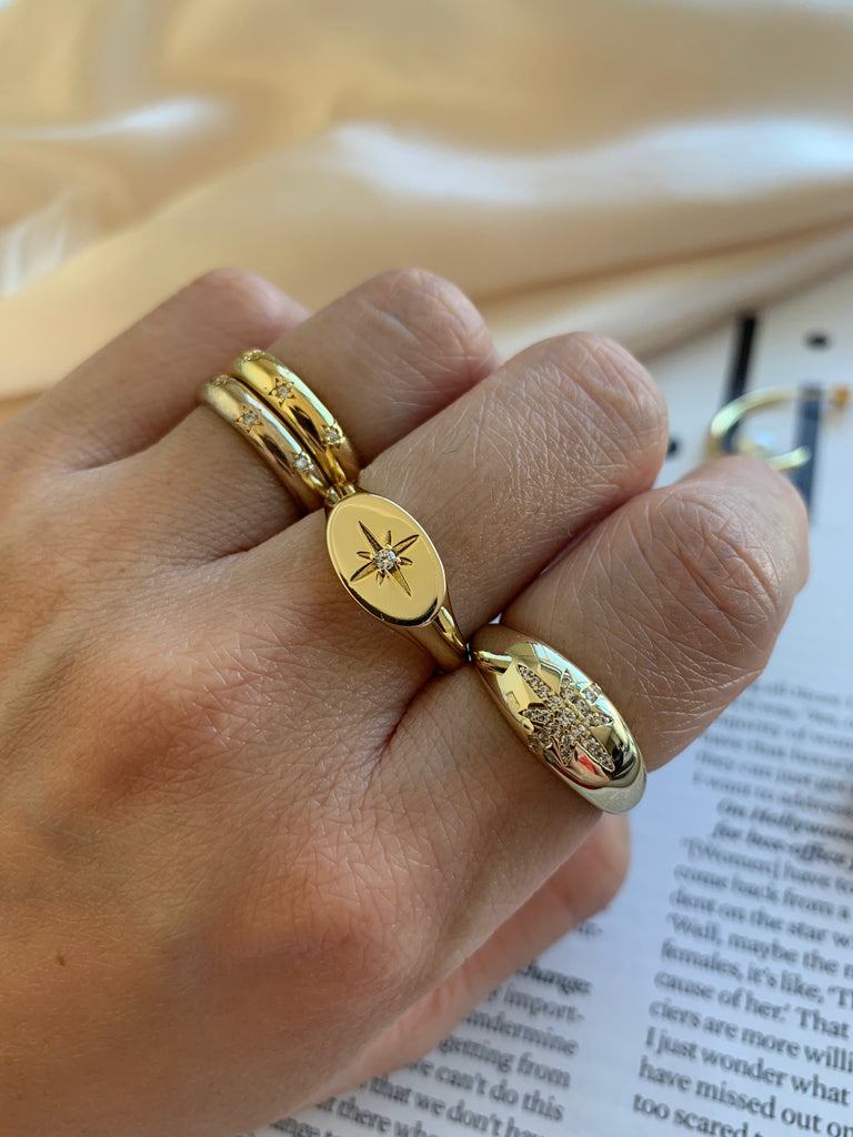 Star Signet Ring